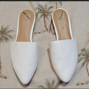 Shoes - New Day White Slide On Mules Flats